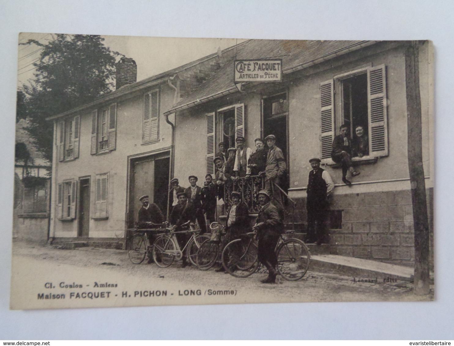 LONG : Maison FACQUET - H  PICHON , Café - Autres Communes