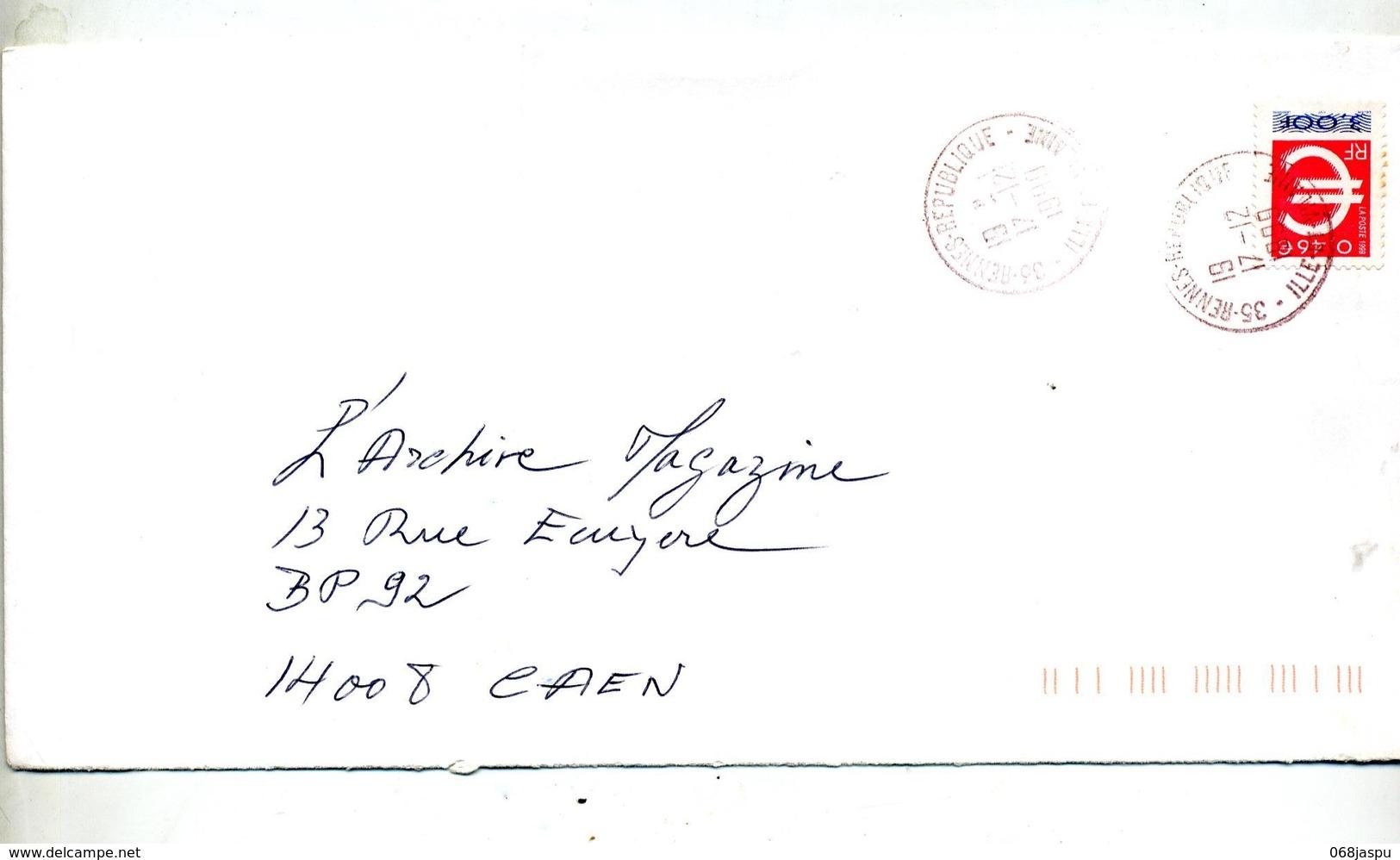 Lettre   Cachet Rennes Republique - Marcophilie (Lettres)