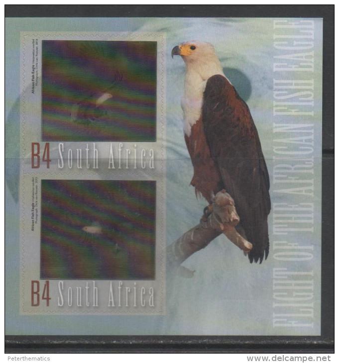 SOUTH AFRICA,2013, MNH, FISH EAGLE, EAGLES, HOLOGRAM S/SHEET, BEAUTIFUL - Eagles & Birds Of Prey
