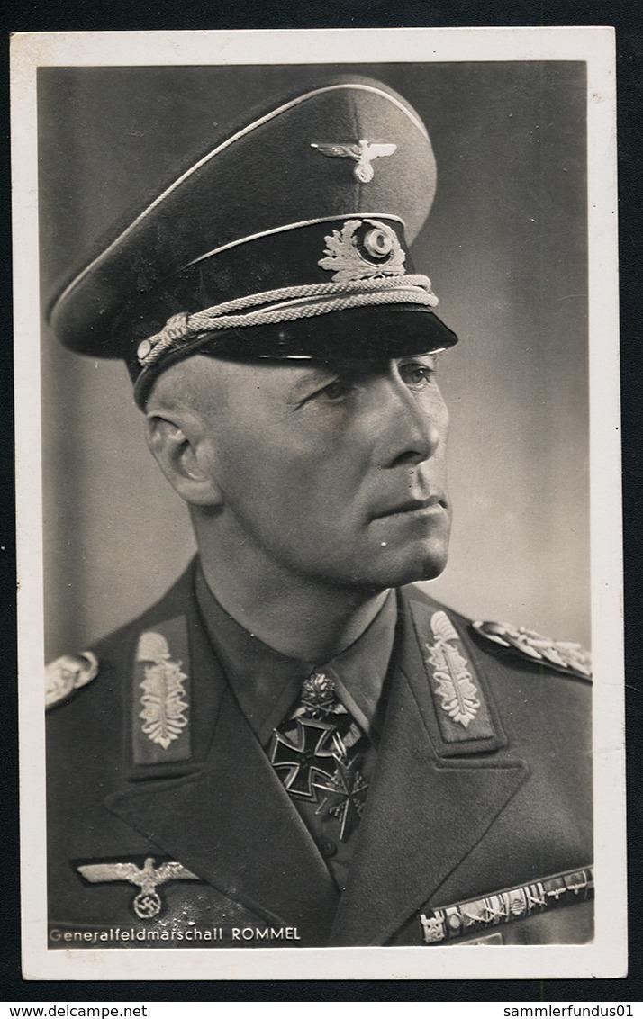 Foto AK/CP Ritterkreuzträger GFM  Rommel   Hoffmann  Ungel/uncirc.1933-45  Erhaltung/Cond. 2/2-  Nr. 00829 - Guerre 1939-45
