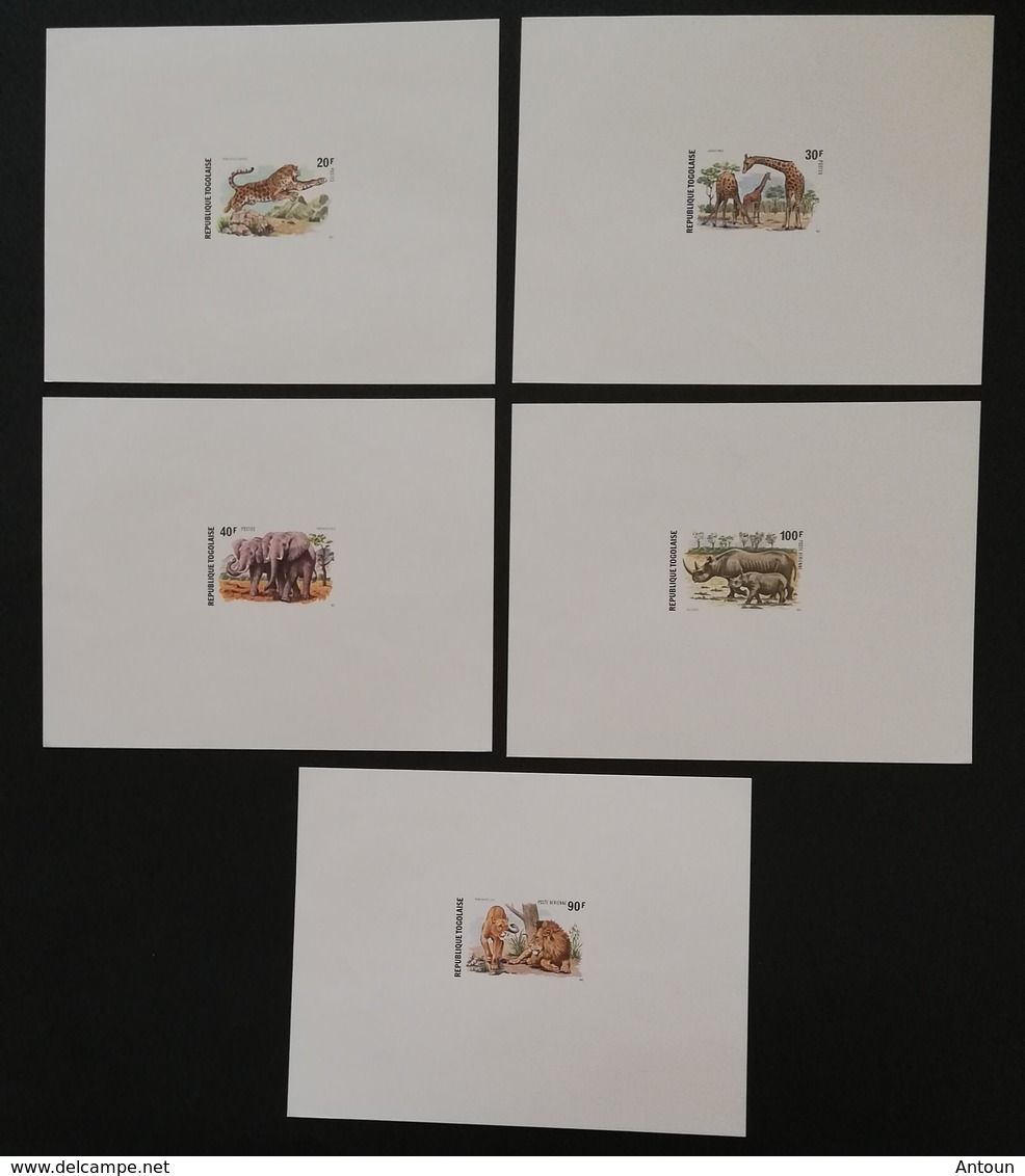TOGO 1974  Wild Animals Of West Africa DELUXE SHEETS  POSTAGE FEE TO BE ADDED ON ALL ITEMS - Togo (1960-...)