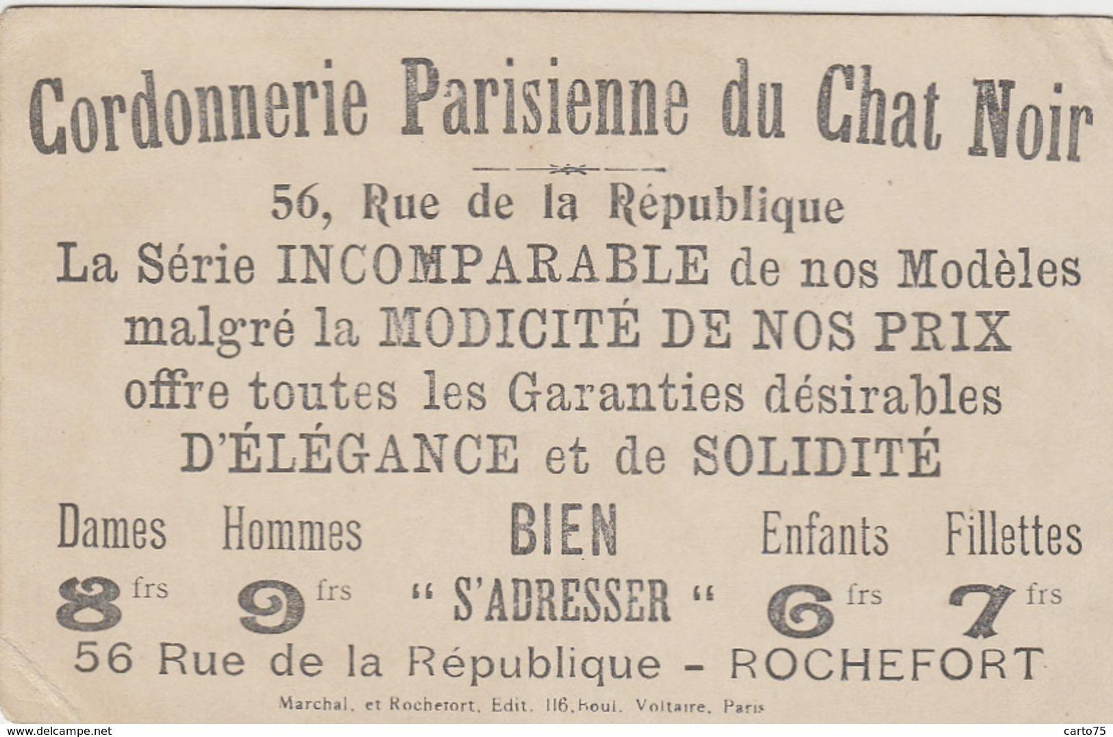 Rochefort-sur-Mer 17 - Publicité Cordonnerie Parisienne Du Chat Noir - Couple 18ème Siècle - Rochefort