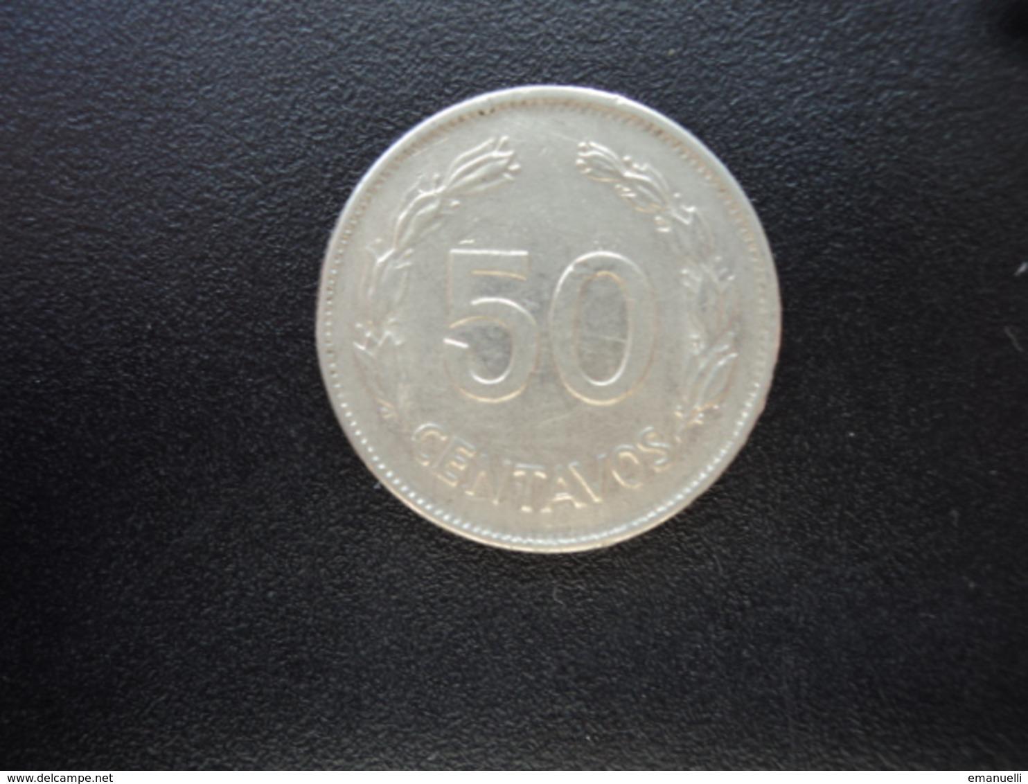 ÉQUATEUR : 50 CENTAVOS   1977   KM 81    TTB+ - Ecuador