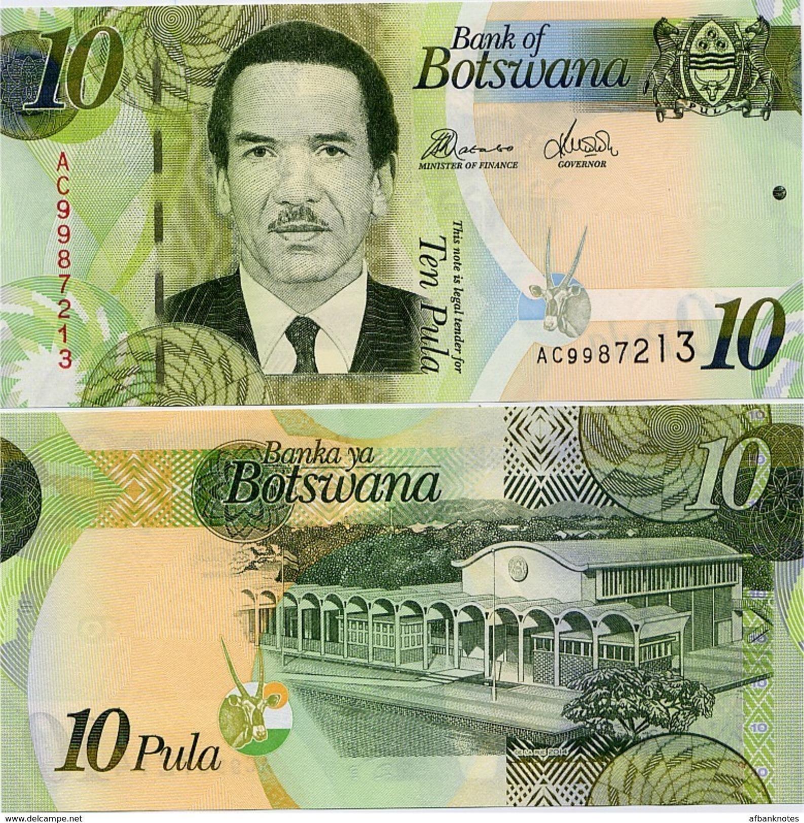 BOTSWANA       10 Pula       P-30[d]       2014       UNC - Botswana