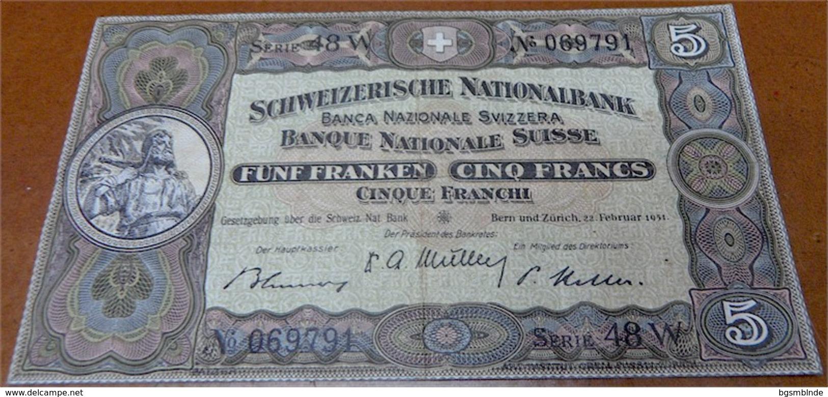 5 Schweizer Franken 1951 - Svizzera