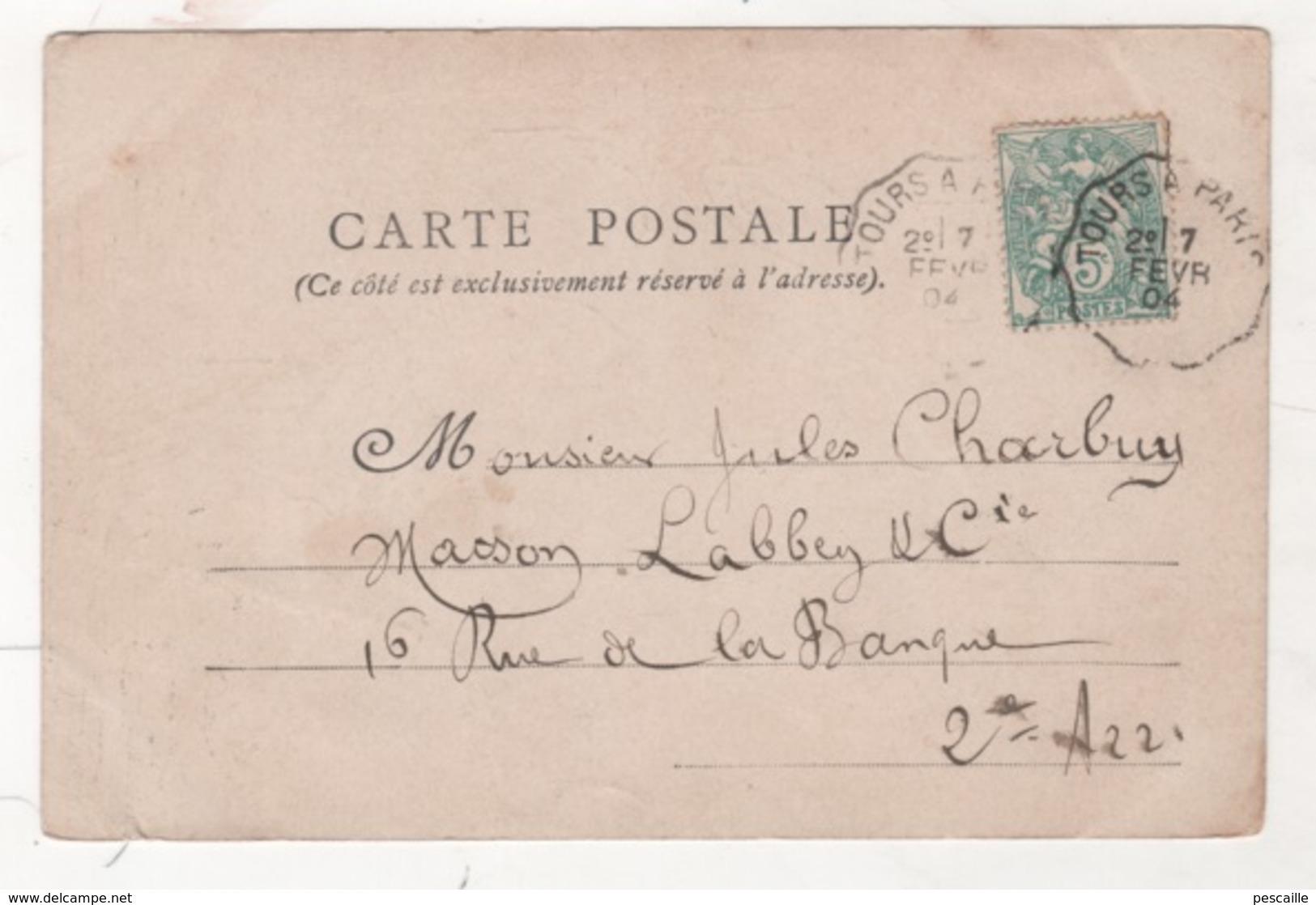 CP HUMORISTIQUE HOMME URINANT CONTRE UN MUR ET FEMME LUI VERSANT DE L'EAU CHAUDE DESSUS... - CIRCULEE EN 1904 - Humour
