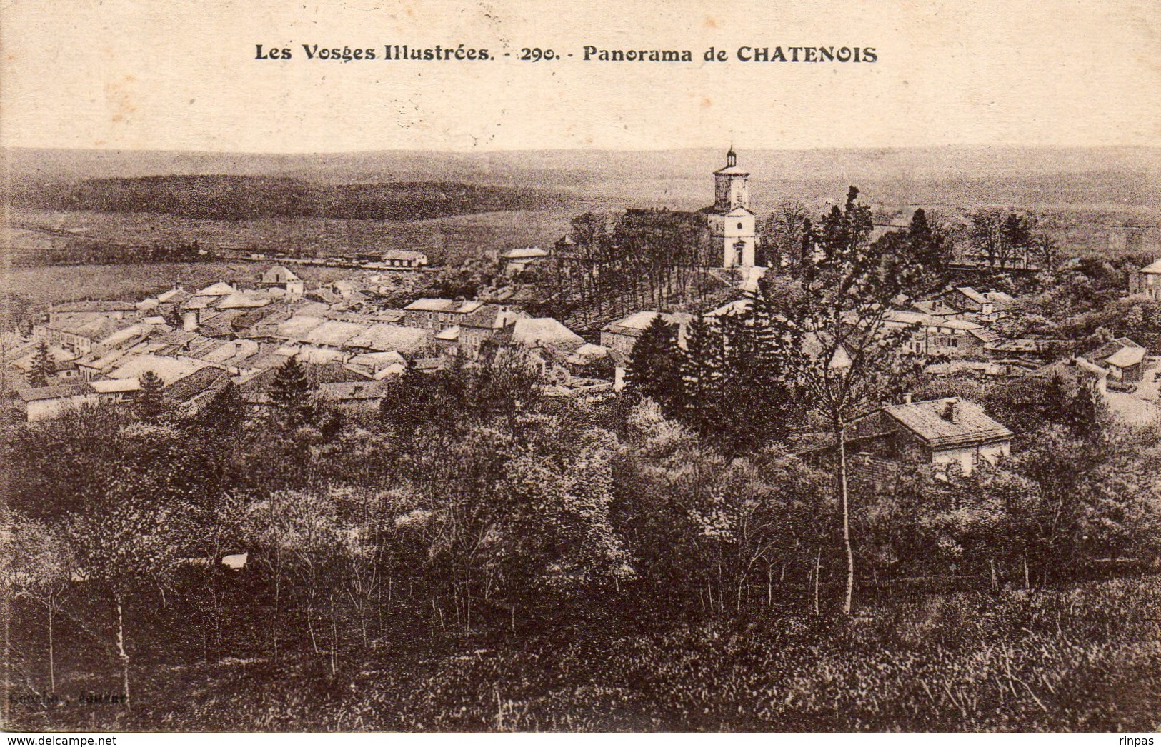 (88) CHATENOIS Panorama N°290   Oblitéré En 1925   ( Vosges) - Chatenois