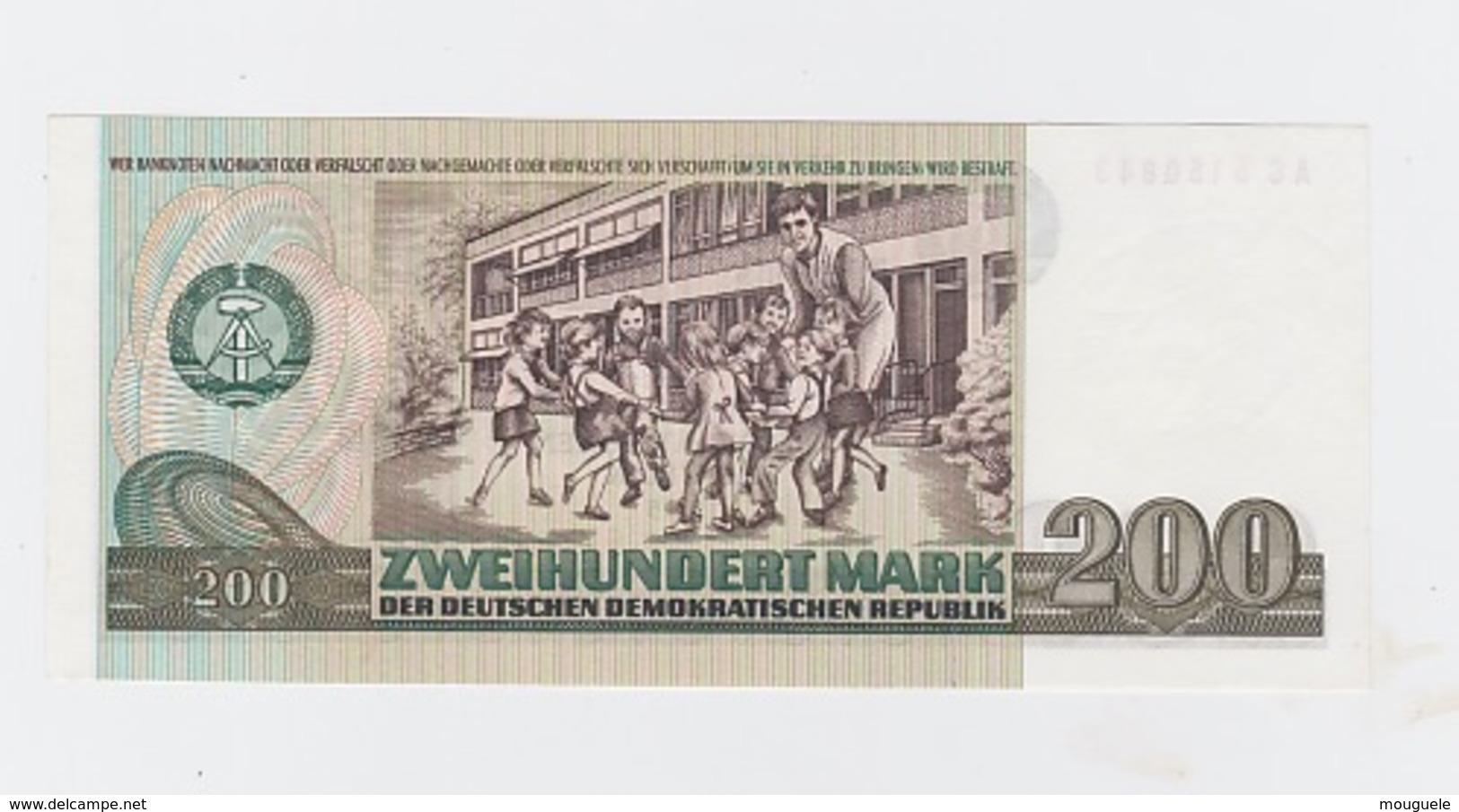 Billet  DDR De 200 Mark  De 1985  Pick 32 Neuf - [ 7] 1949-… : RFD - Rep. Fed. Duitsland