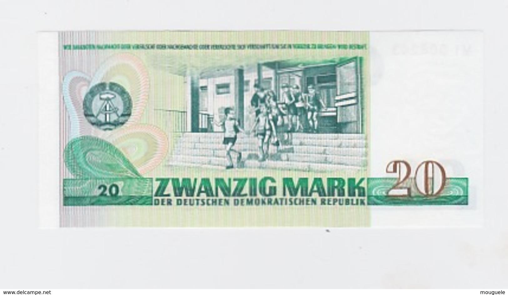 Billet  DDR De 20 Mark  De 1975  Pick 29 Neuf - 200 Deutsche Mark
