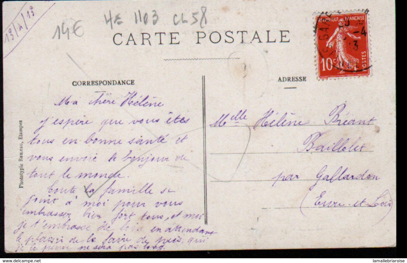 Etampes Aviation, L'aviateur Chef Pilote Maurice L Chevillard Sur Biplan H. Farman En Plein Vol, Signature - Aviateurs