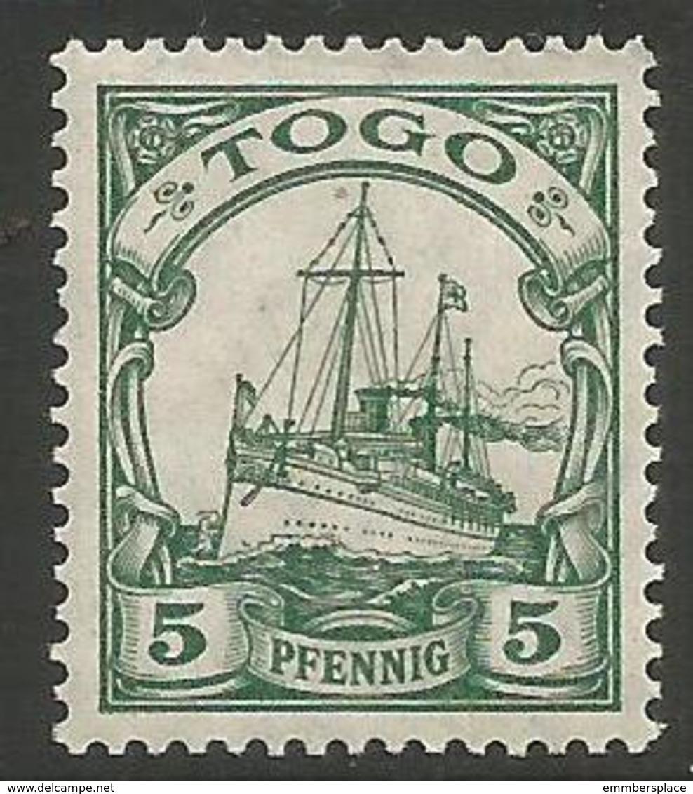 German Togo - 1919 Kaiser's Yacht 5pf MH *   Sc 21 - Colony: Togo