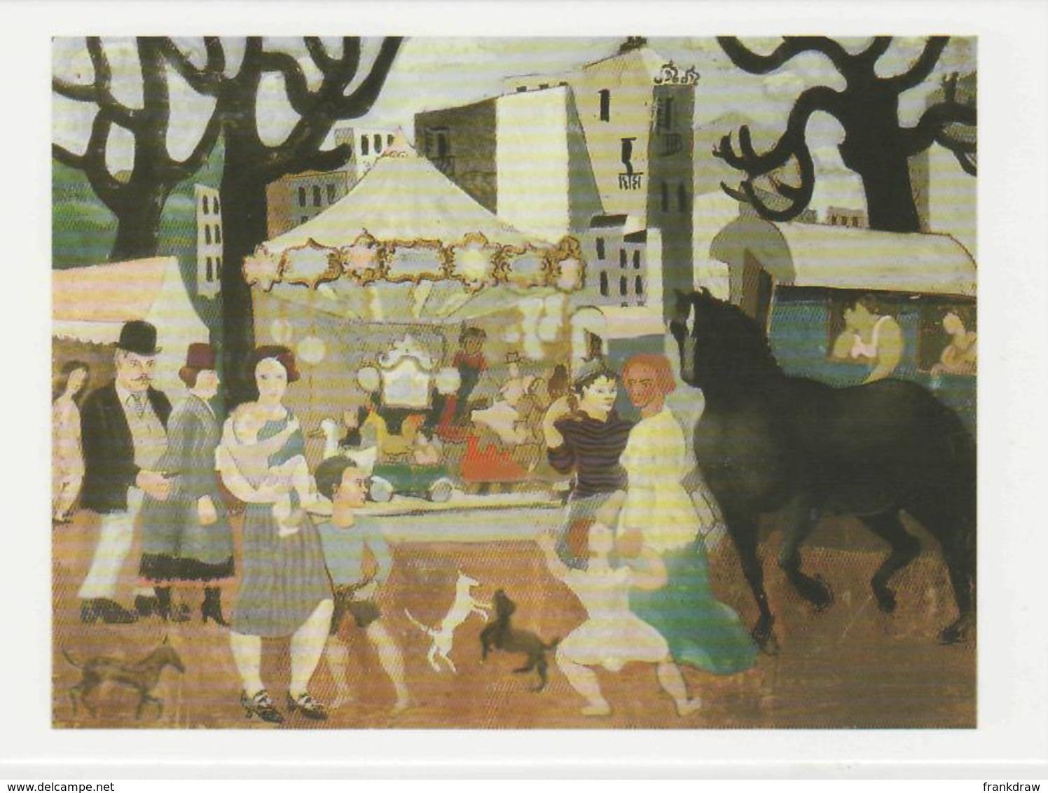 Postcard - Art - Christopher Wood - La Foire De Neuilly 1923 Card No..mu2256 New - Postcards