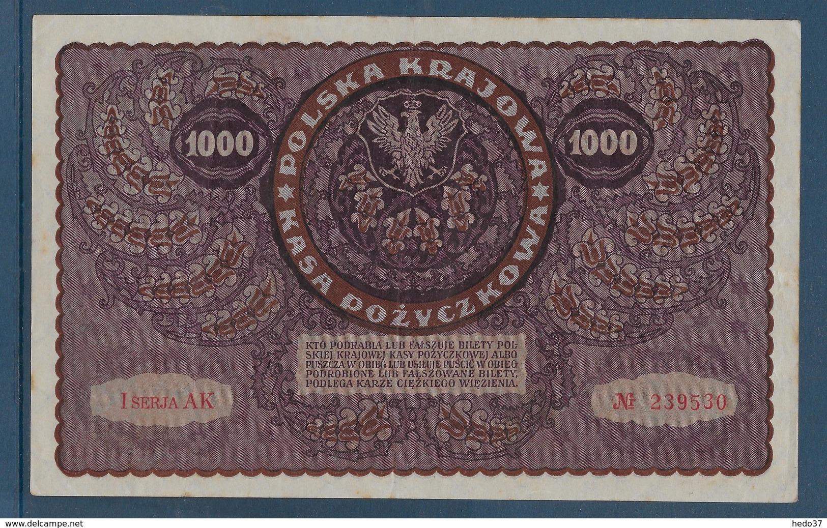 Pologne - 1000 Marek - Pick N°29 - 1919 - SUP - Pologne