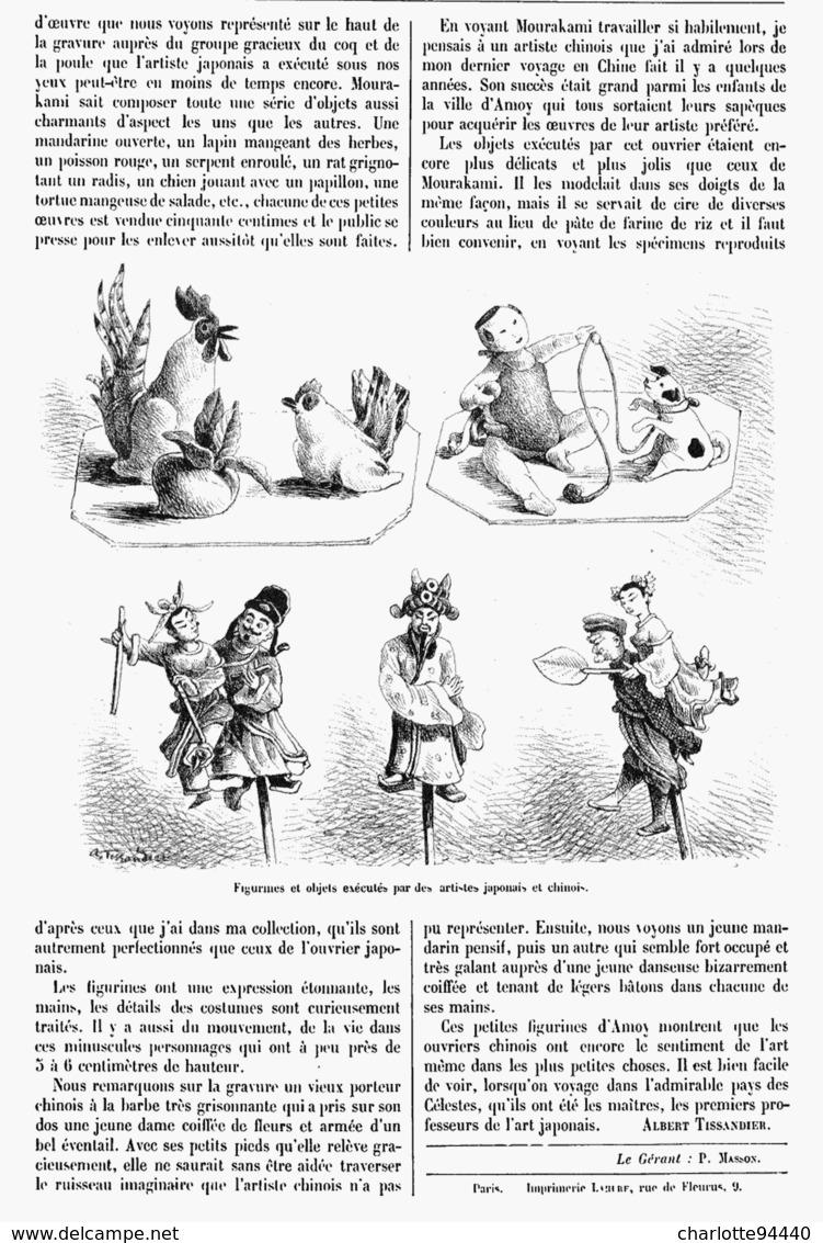"""PETITES INDUSTRIE JAPONNAISE """"  FIGURINES En PATE De RIZ   1900 - Technical"""