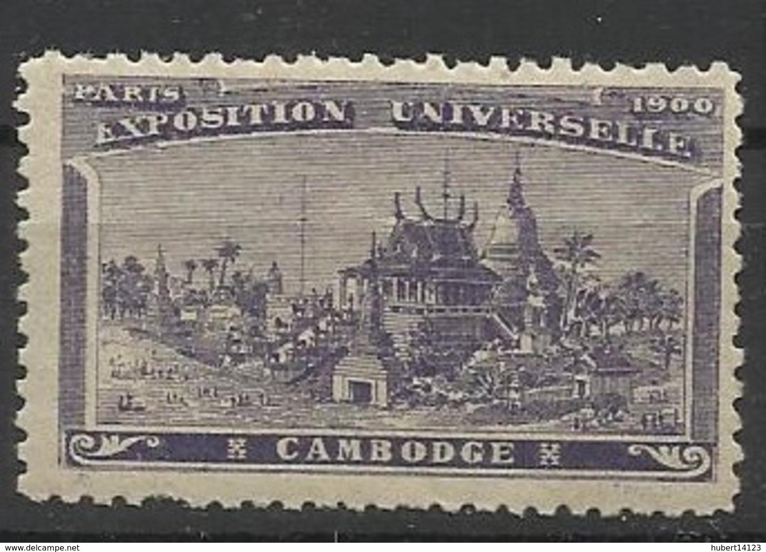 VIGNETTES Exposition Universelle De Paris 1900 - Cambodge - Commemorative Labels