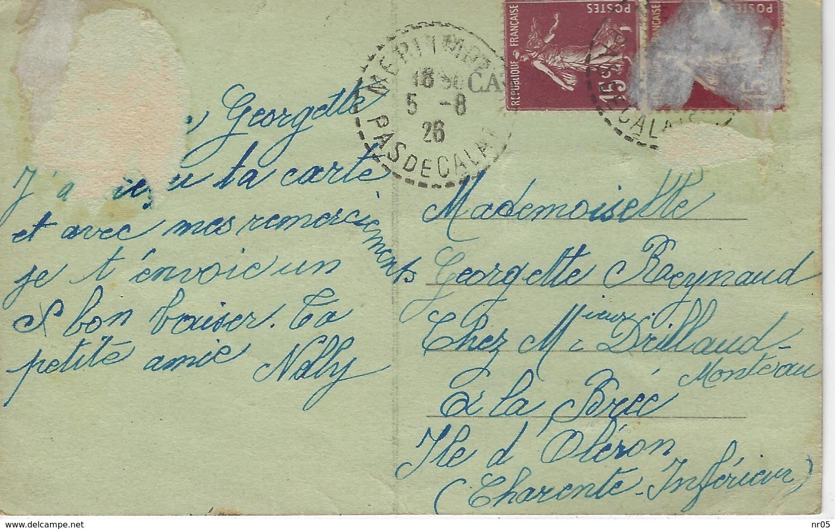 62 ( Pas De Calais ) - Scenes De PLAGE A L'heure Du Bain ( Posté De Merimont En 1926 ) - France