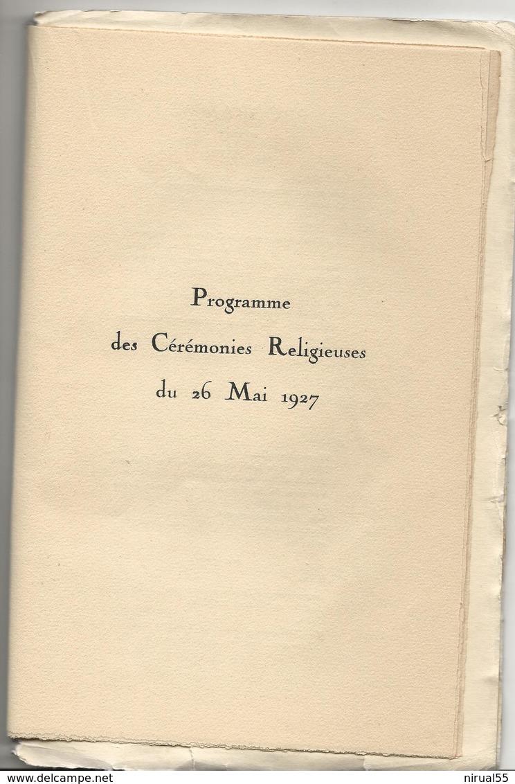 REIMS Marne Cathédrale De Reims PROGRAMME OFFICIEL ILLUSTRE DES FETES DU 26 MAI 1927 ...cl - Books, Magazines, Comics