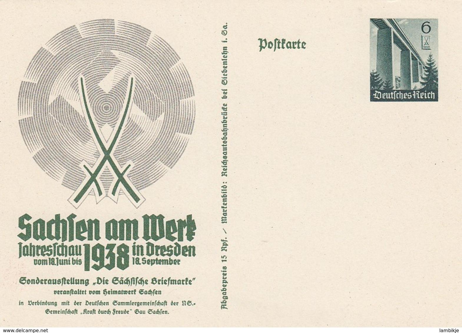 Deutsches Reich Postkarte 1938 P269 & 270 - Deutschland