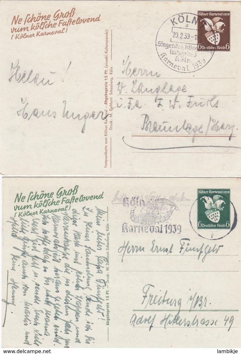 Deutsches Reich Postkarten P276 & 277 1938 - Deutschland