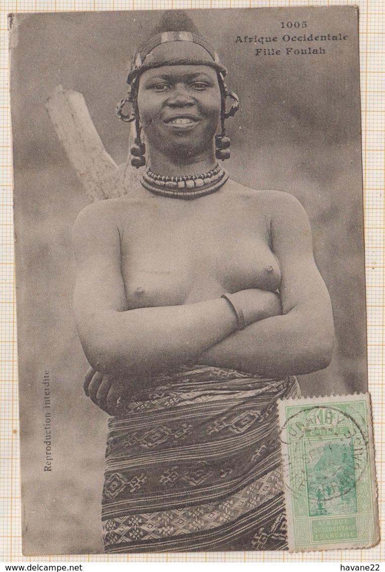 9AL1523 AFRIQUE OCCIDENTALE A O F Seins Nus FILLE FOULAH 2 SCANS - Guinée Française