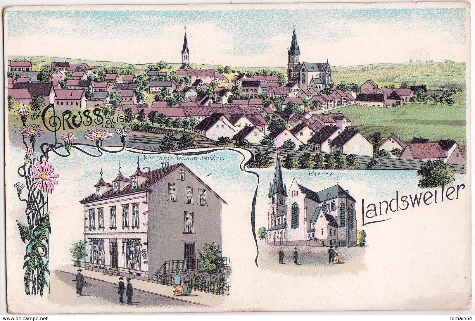 LANDSWEILER-LITHO A 3 VUES - Allemagne