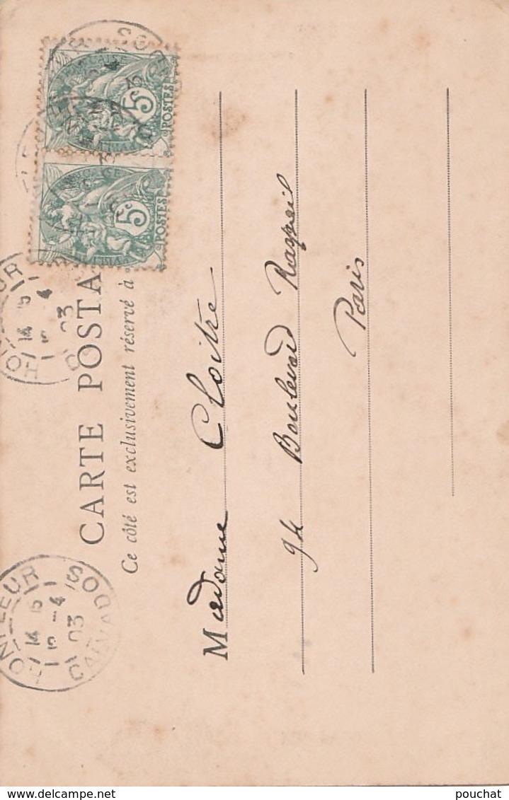 Z22- 14)  HONFLEUR -  CLOCHER SAINT CATHERINE  - (OBLITERATION DE 1903 - 2 SCANS) - Honfleur