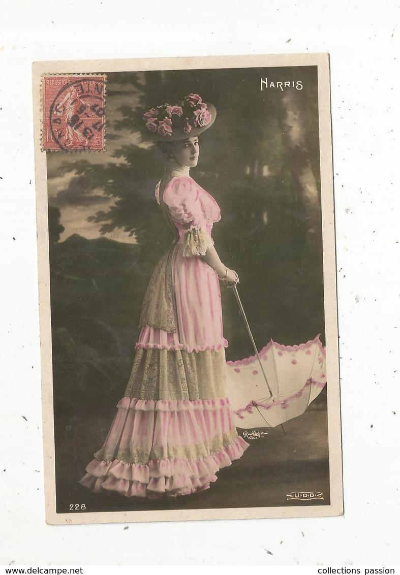 Cp, Spectacle , Artiste ,  HARRIS ,  Voyagée 1907 - Artistes