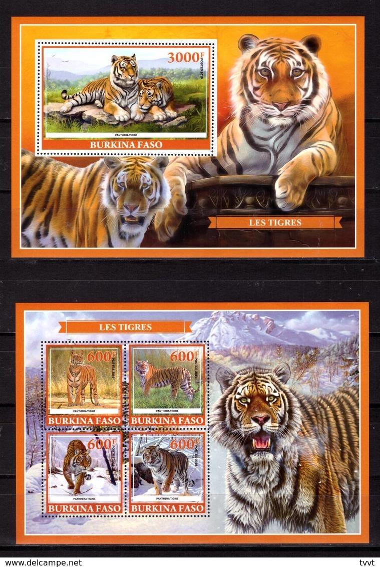 Burkina Faso, 2019. [bf1911] Tigers (s\s+block) - Raubkatzen