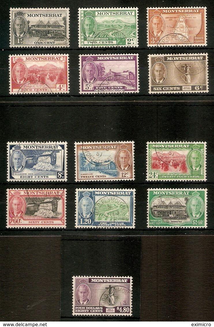 MONTSERRAT 1951 SET SG 123/135 FINE USED Cat £70 - Montserrat