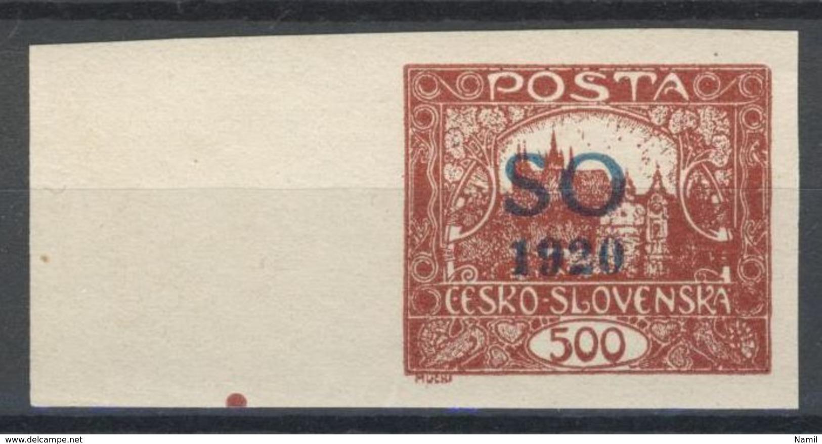Tchécoslovaquie - Silesie Orientale 1920 Mi 24a (Yv 17), (MNH)** - Czechoslovakia