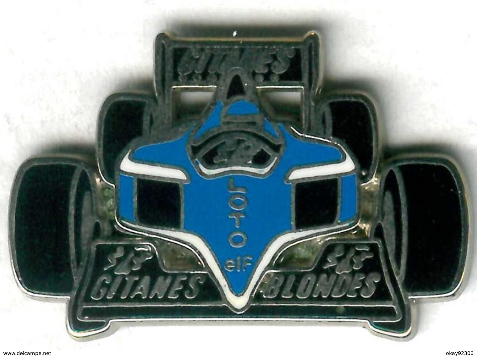 Pin's F1 Formule 1 Gitanes Blondes Loto ELF Tabac Cigarettes - Automobile - F1