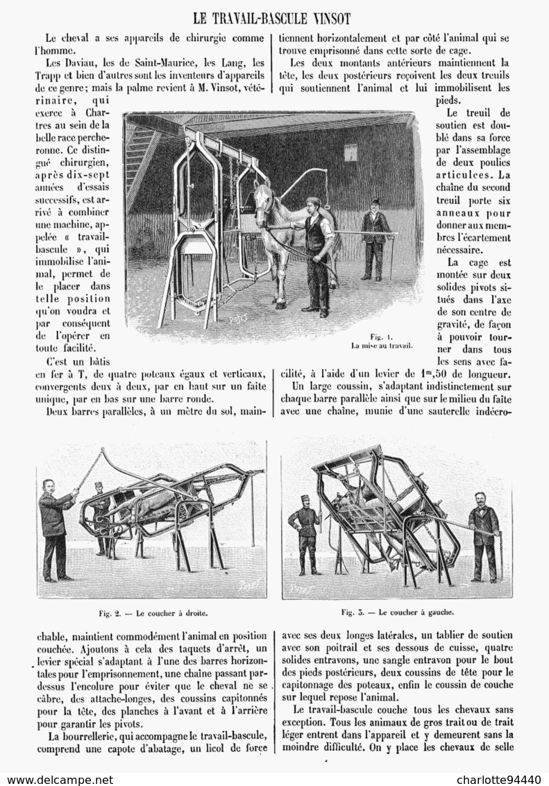 LE TRAVAIL-BASCULE  VINSOT 1901 - Otros
