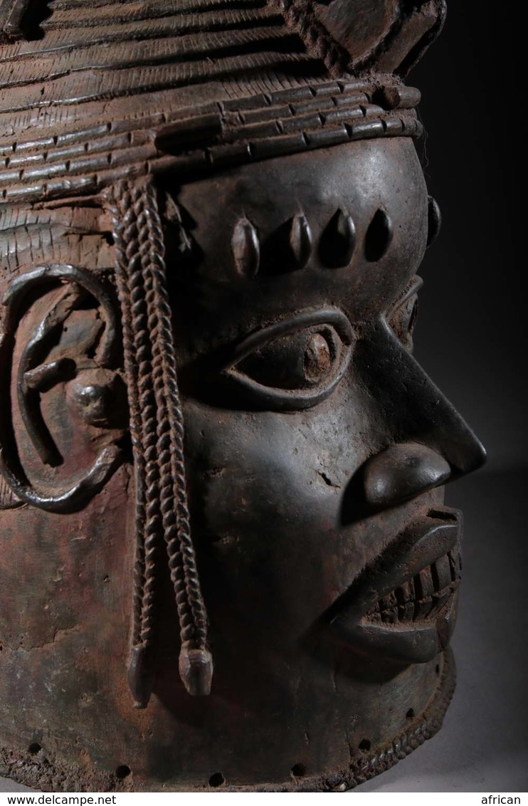 Art Africain Tête De Roi Oba Du Royaume D'Ifé - Art Africain