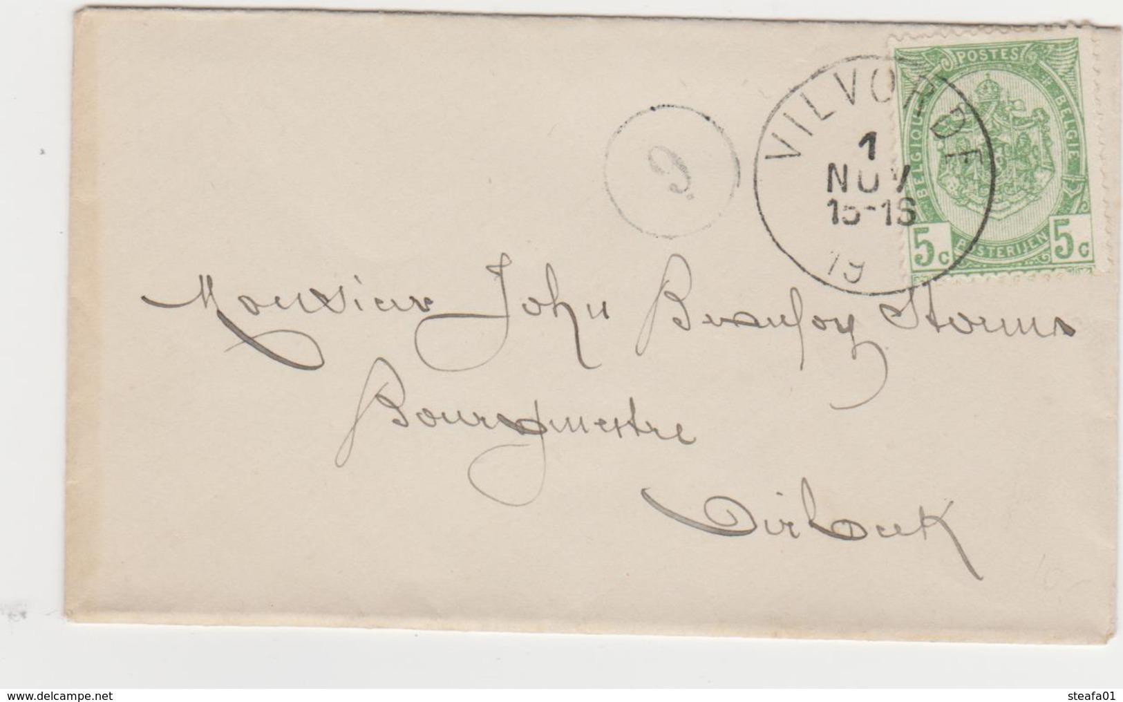 Tienen, Thienen, Tirlemont, Kasteel Oorbeek,enveloppe Voor Burgemeester John Beaufoy Storms, 1901! - Old Paper