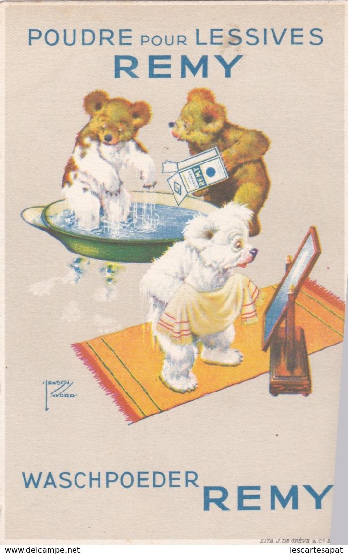 Reclame - Publicité - Carte Publicitaire : Poudre Pour Lessives Remy - Illustrateur Lawson Wood (lot Pat 76) - Publicité