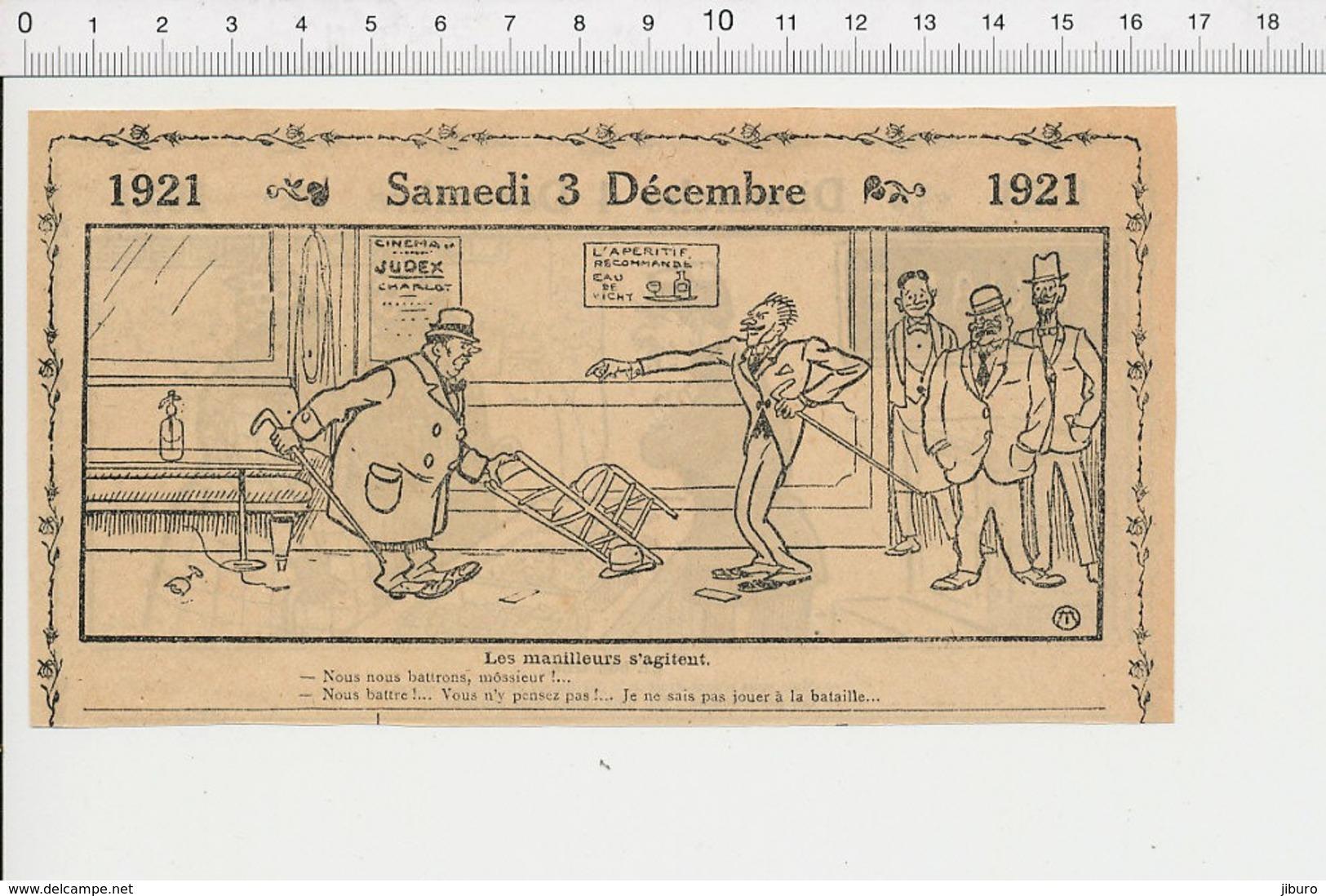 2 Scans Humour Métier Douanier Douane Jeu Joueurs De Cartes Manille Bataille Eau De Vichy Publicité Cinéma Judex  226X - Old Paper