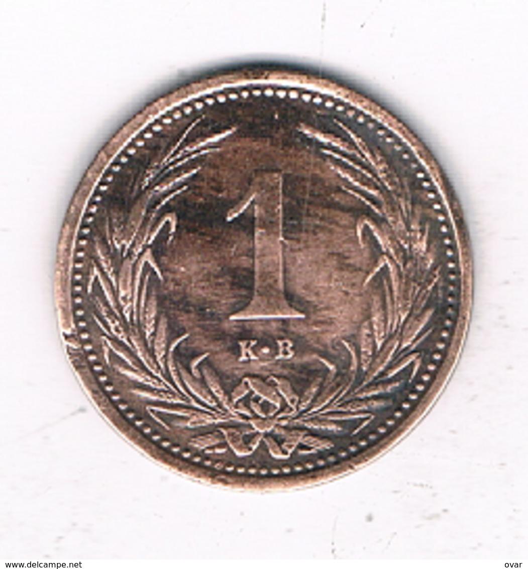 1 FILLER 1902 HONGARIJE /4810/ - Hongrie
