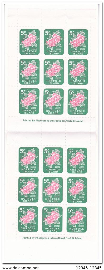 Norfolk Eiland 1996, Postfris MNH, Flowers ( Booklet, Carnet ) - Norfolk Island