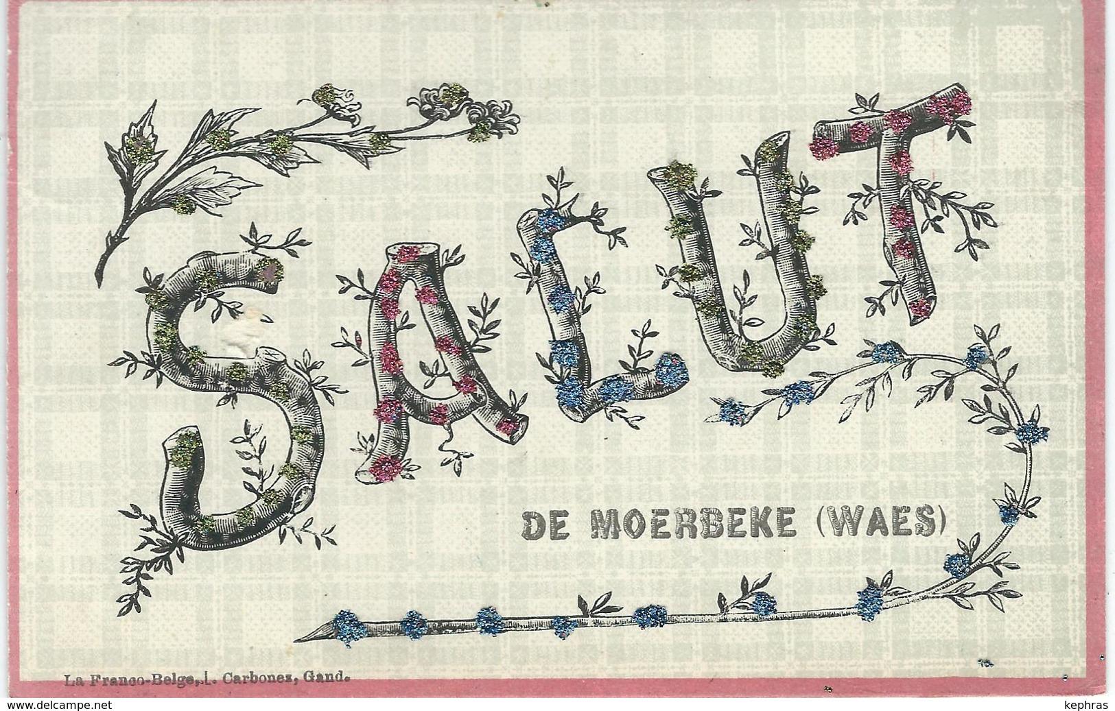 Salut De MOERBEKE Waes - Cachet De La Poste 1906 - Moerbeke-Waas