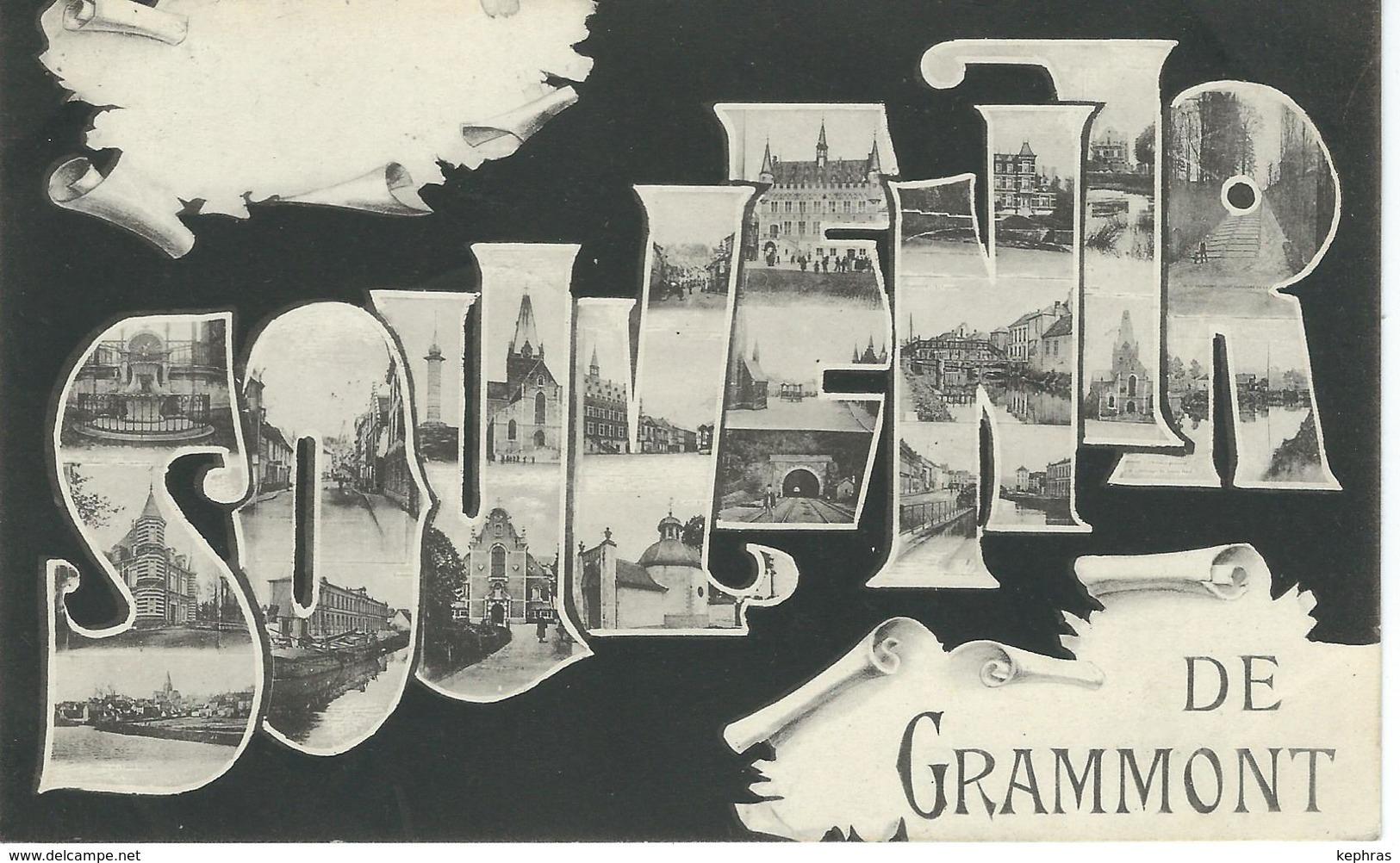 Souvenir De GRAMMONT - Cachet De La Poste 1909 - Geraardsbergen
