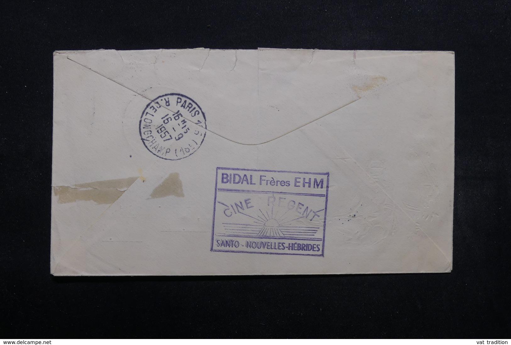 NOUVELLES HÉBRIDES - Enveloppe FDC 1957 Pour Paris - L 32645 - FDC