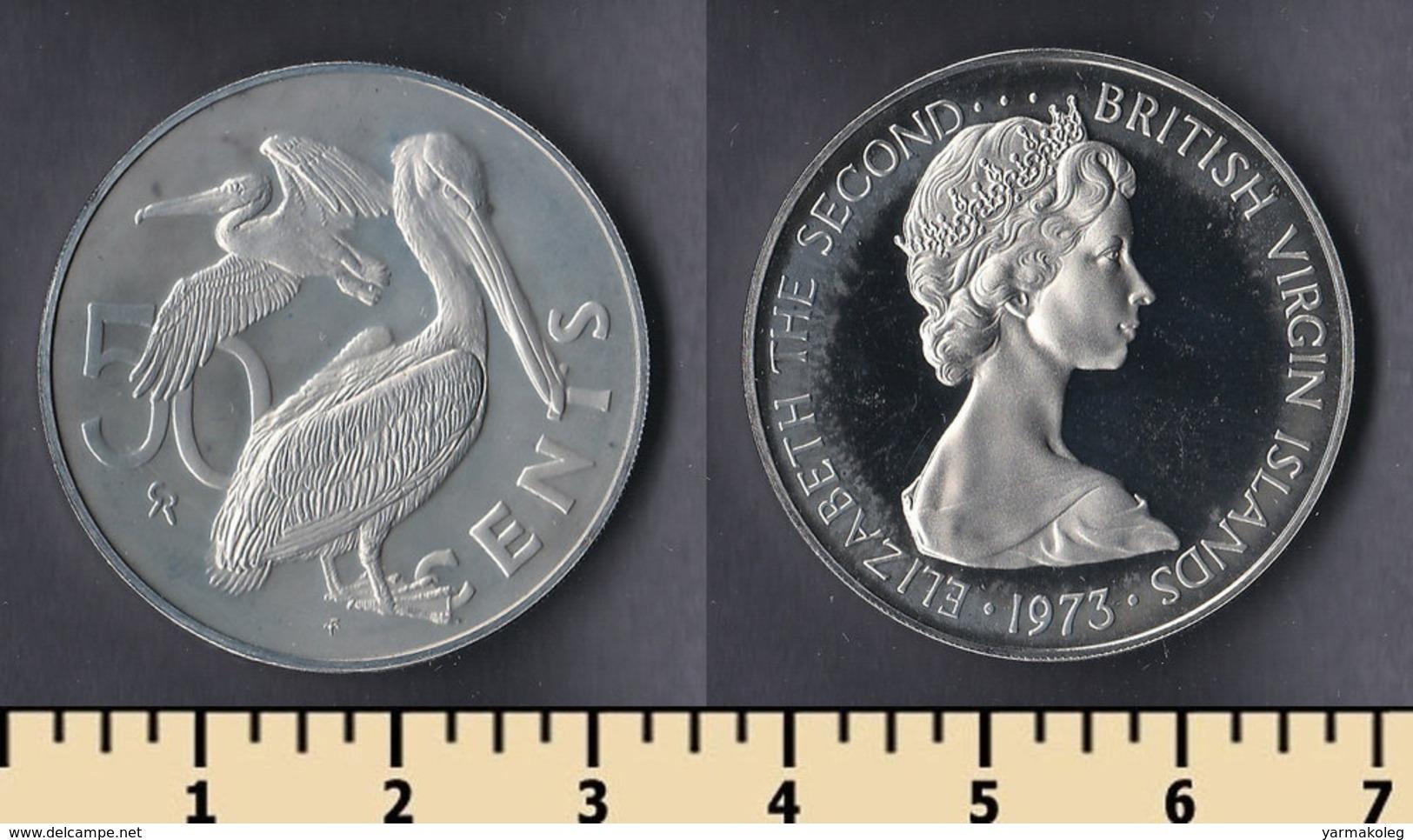 British Virgin Islands 50 Cents 1973 - British Virgin Islands