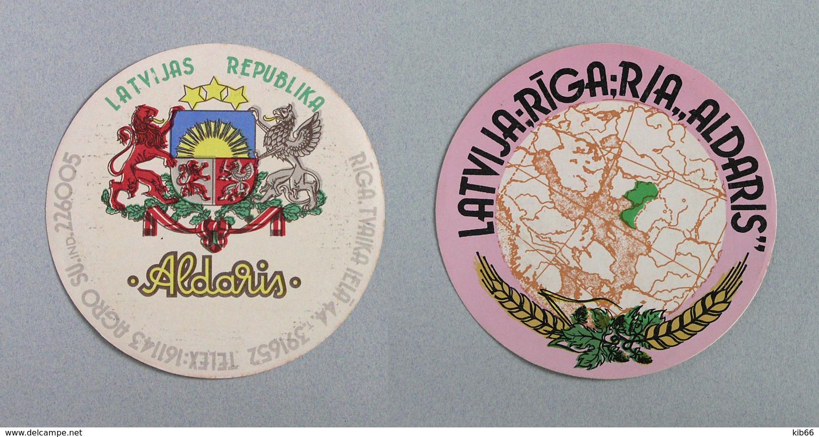 Ancien Sous Bock Brasseries De Riga, Lettonie URSS (Beermat Coaster Bierdeckel) - Sous-bocks