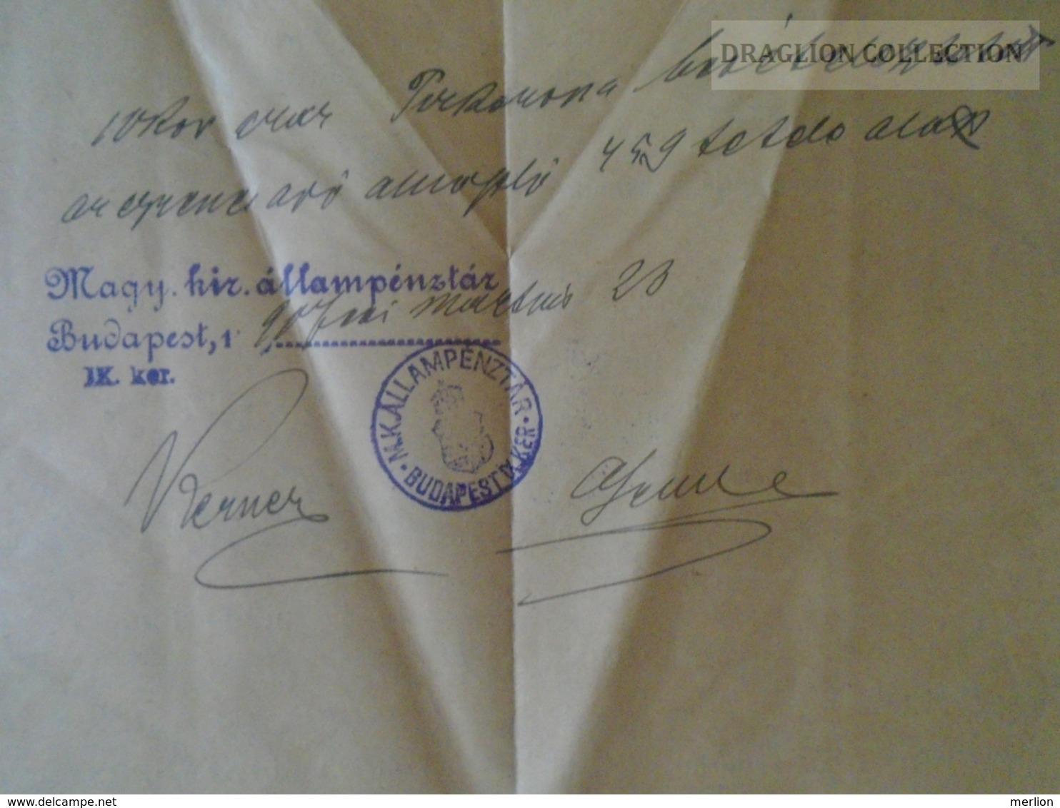 KA409.7 Hungary Budapest - Judaica - Guttman Náthán - 1906 - Old Paper