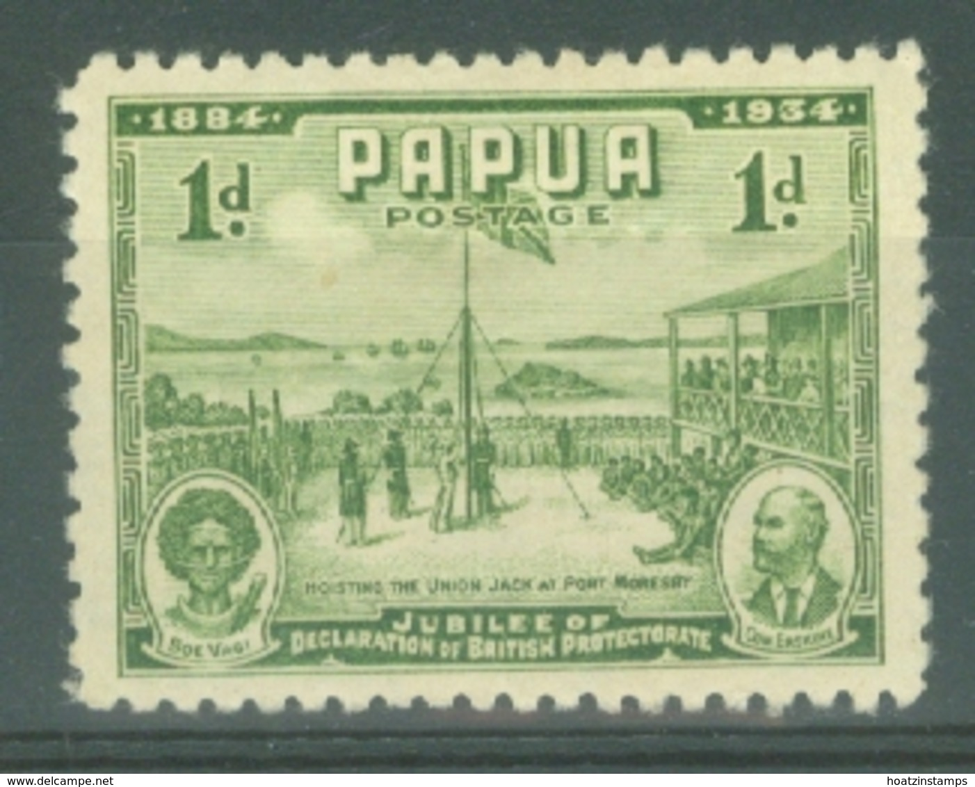 Papua New Guinea: 1934   50th Anniv Of Declaration Of British Protectorate    SG146    1d     MH - Papua New Guinea