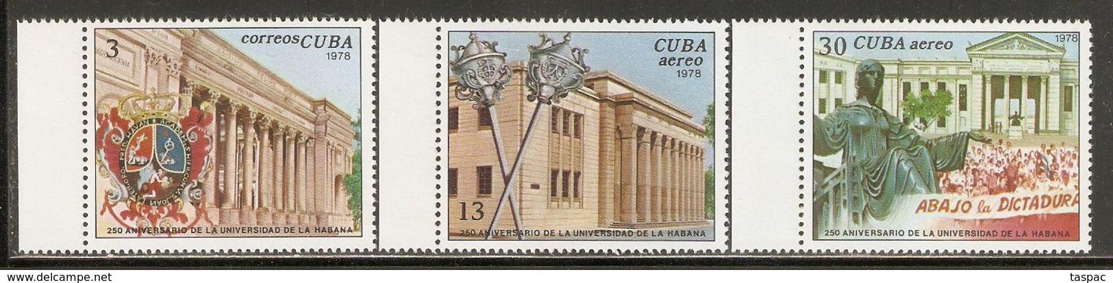 1978 Mi# 2269-2271 ** MNH - University, 250th Anniv. - Cuba