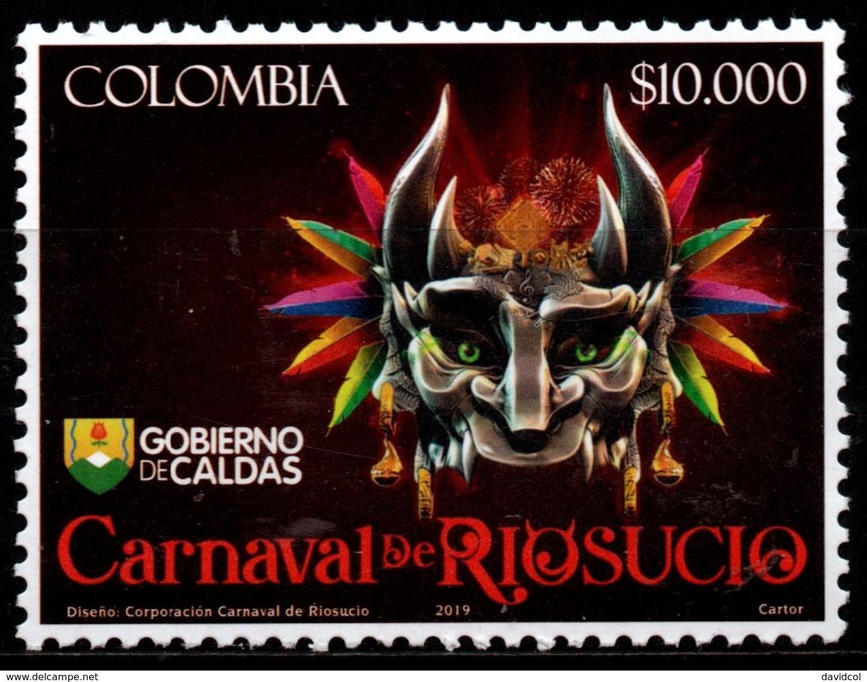 A187. COLOMBIA- KOLUMBIEN- 2019. MNH - RIOSUCIO'S CARNIVAL (DEVIL CARNIVAL) - Colombia