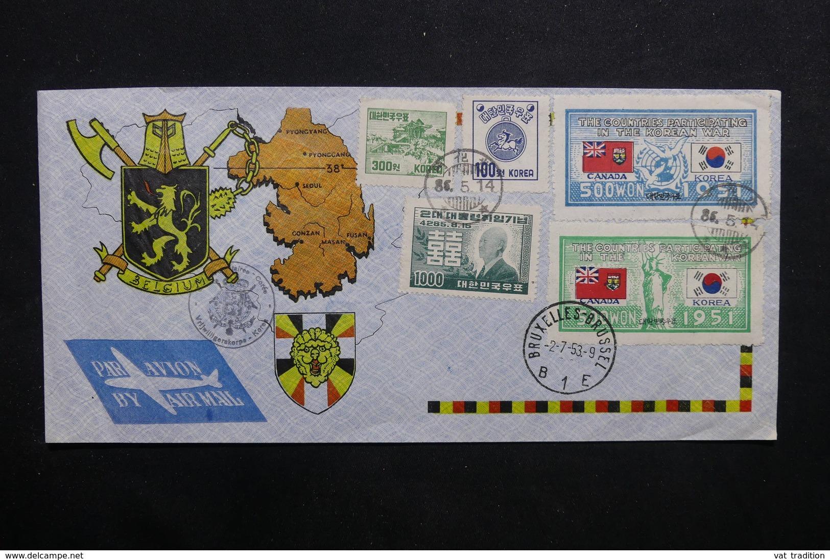COREE - Enveloppe Souvenir Pour La Belgique En 1953 - L 32722 - Corée Du Sud