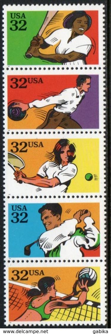 USA 1995 Scott 2961-65 MNH Strips Sport - Unused Stamps