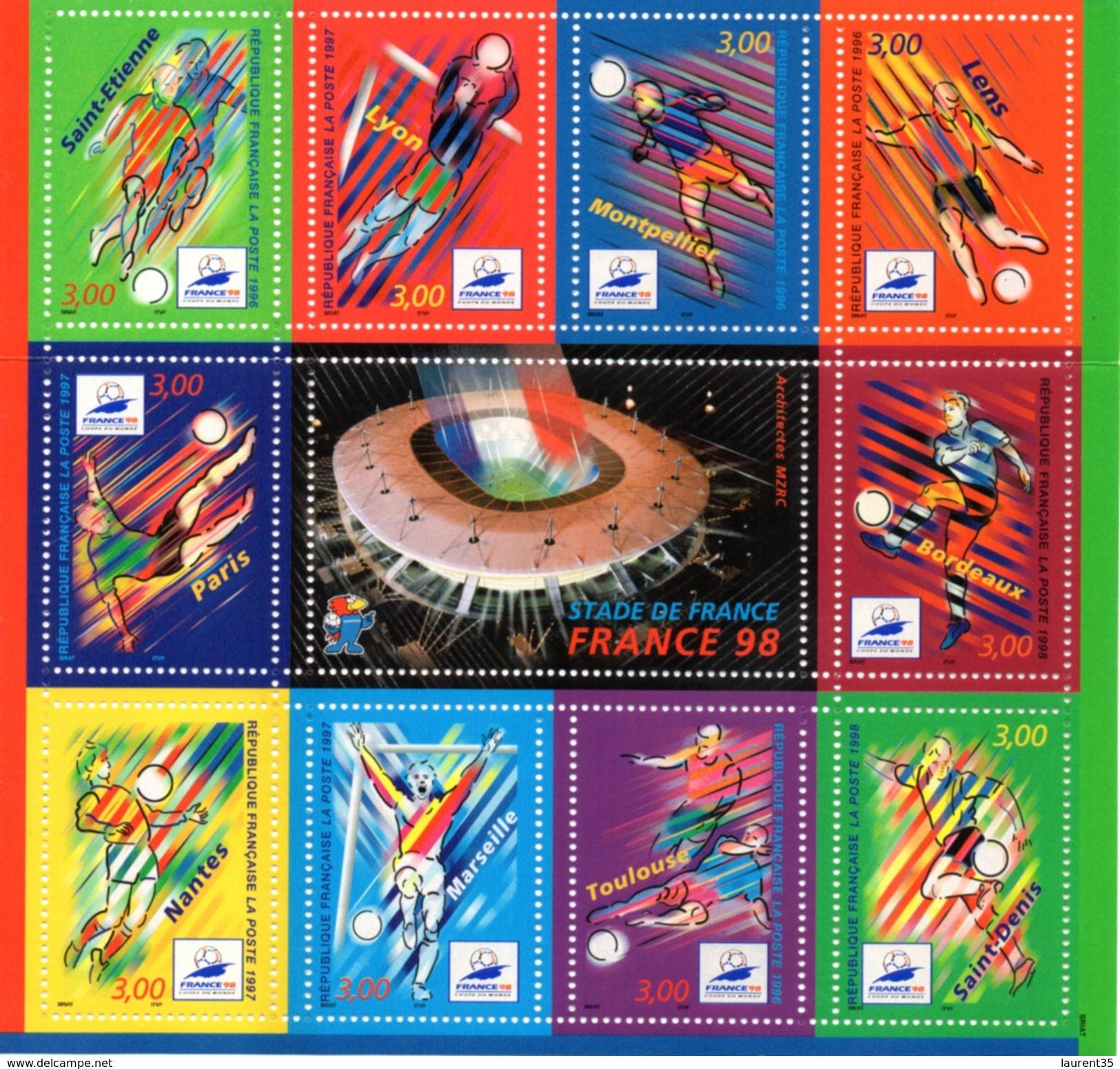 France.bloc No 19 De 1998.coupe Du Monde De Football.n**. - Mint/Hinged